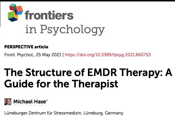 Nouvel article de M. Hase sur la structure de la thérapie EMDR
