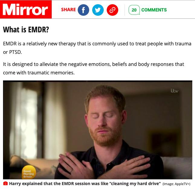 Prinz Harry en thérapie EMDR